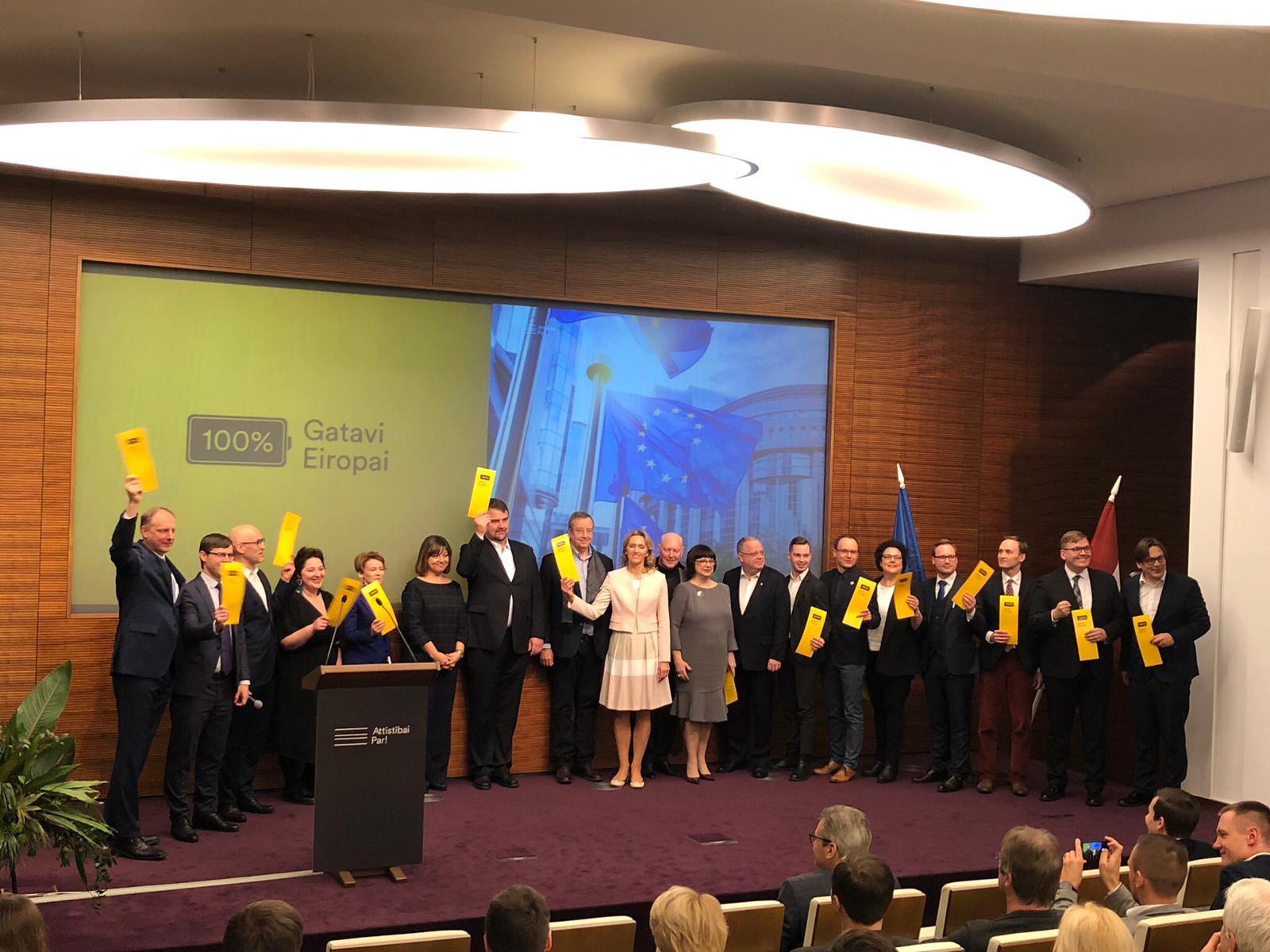 """""""Attīstībai / Par!"""" līderi Eiropas Parlamenta vēlēšanās – Ijabs, Rubesa un Ilvesa"""