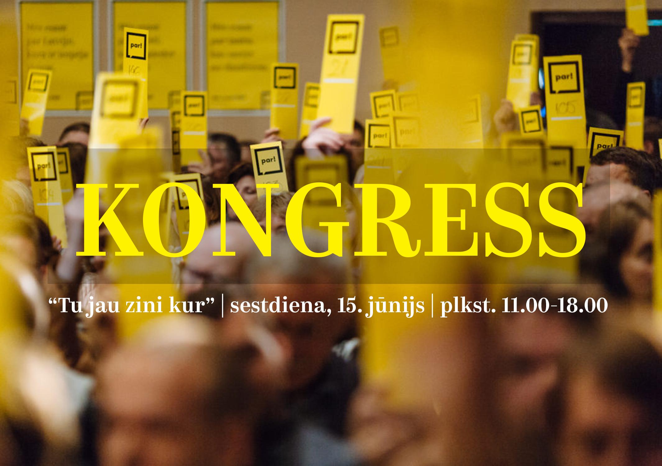 """Kustība """"Par!"""" partijas kongresā 15. jūnijā ievēlēs jaunu valdi"""