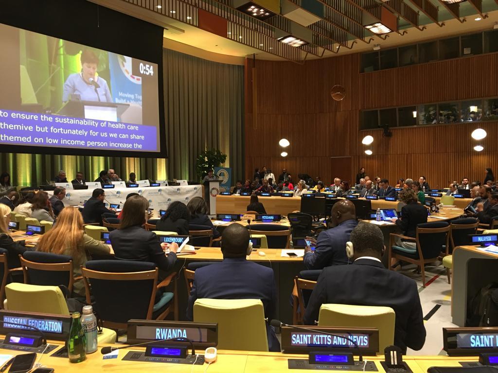 Ilze Viņķele uzrunā ANO: Finansējums veselības aprūpei ir ilgtermiņa ieguldījums