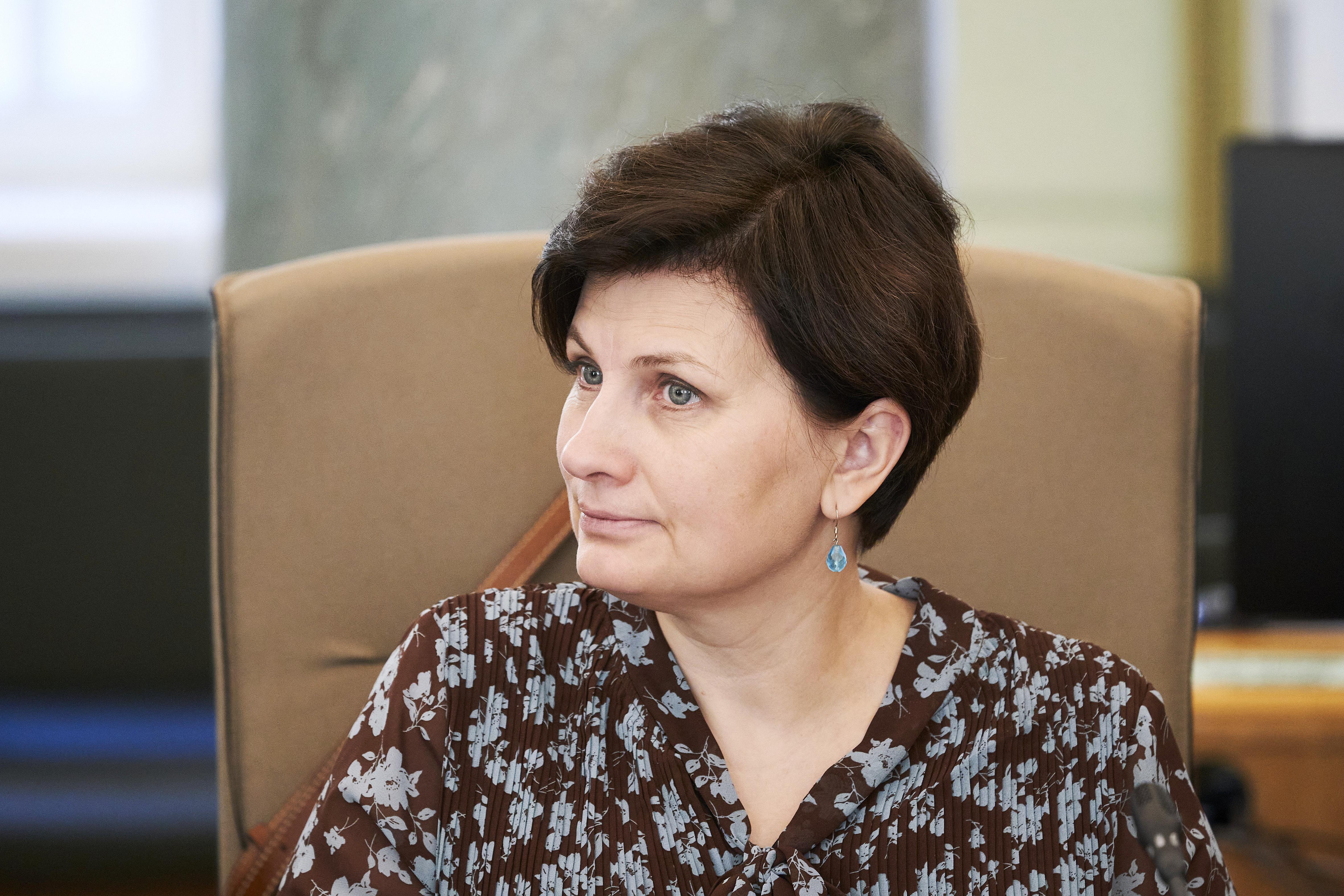 Veselības ministre Viņķele uzrunā PVO informē par Latvijas pieredzi COVID-19 ierobežošanā