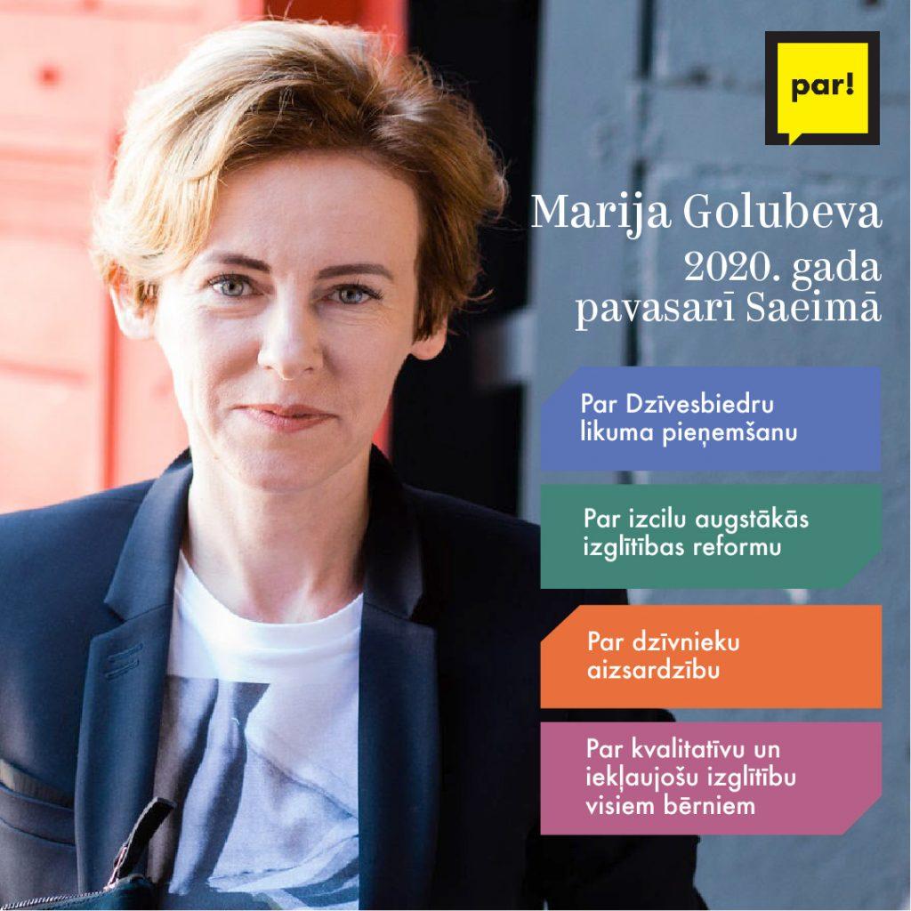 Marija Golubeva par darbiem Saeimā