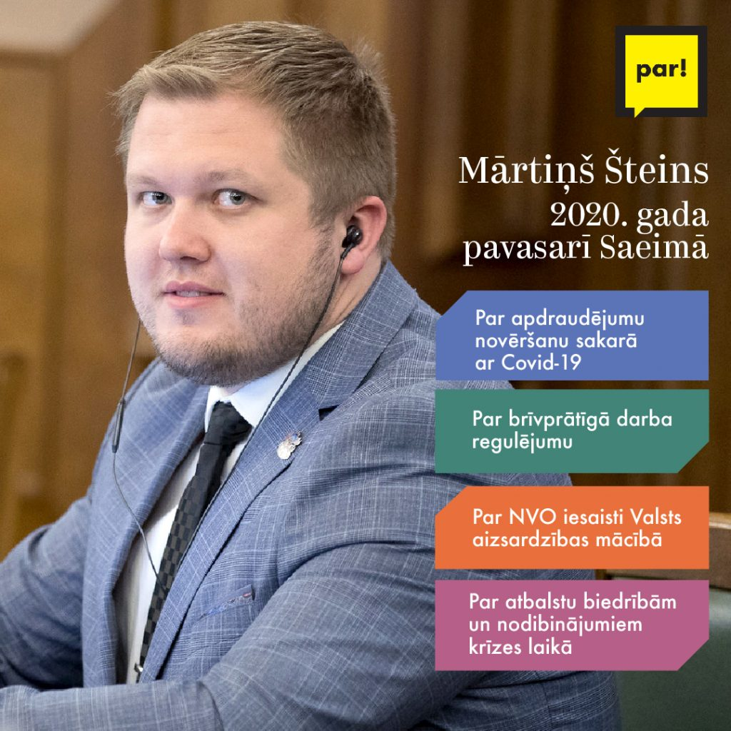 Mārtiņš Šteins, viņa darbi Saeimā