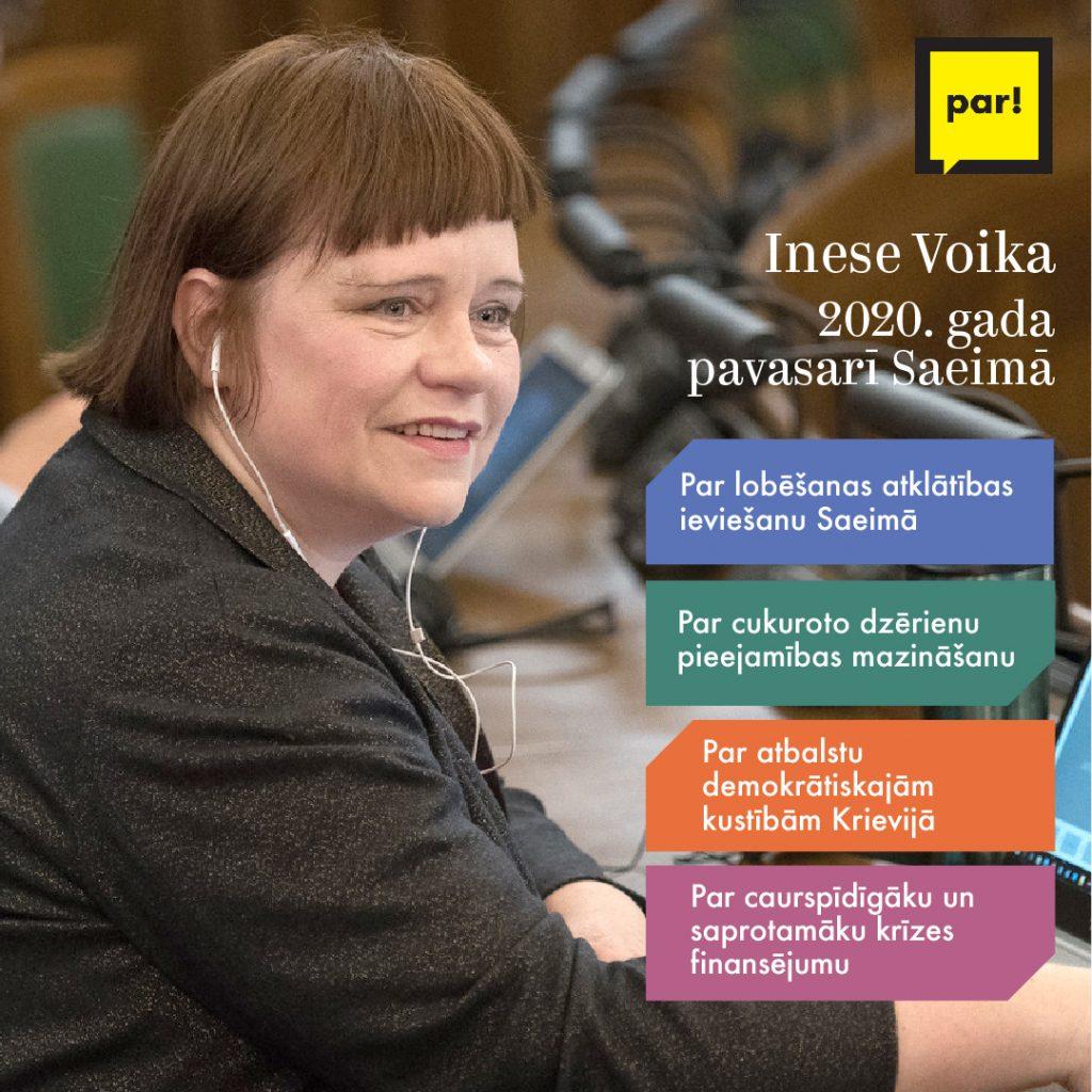 Inese Voika par darbiem Saeimā
