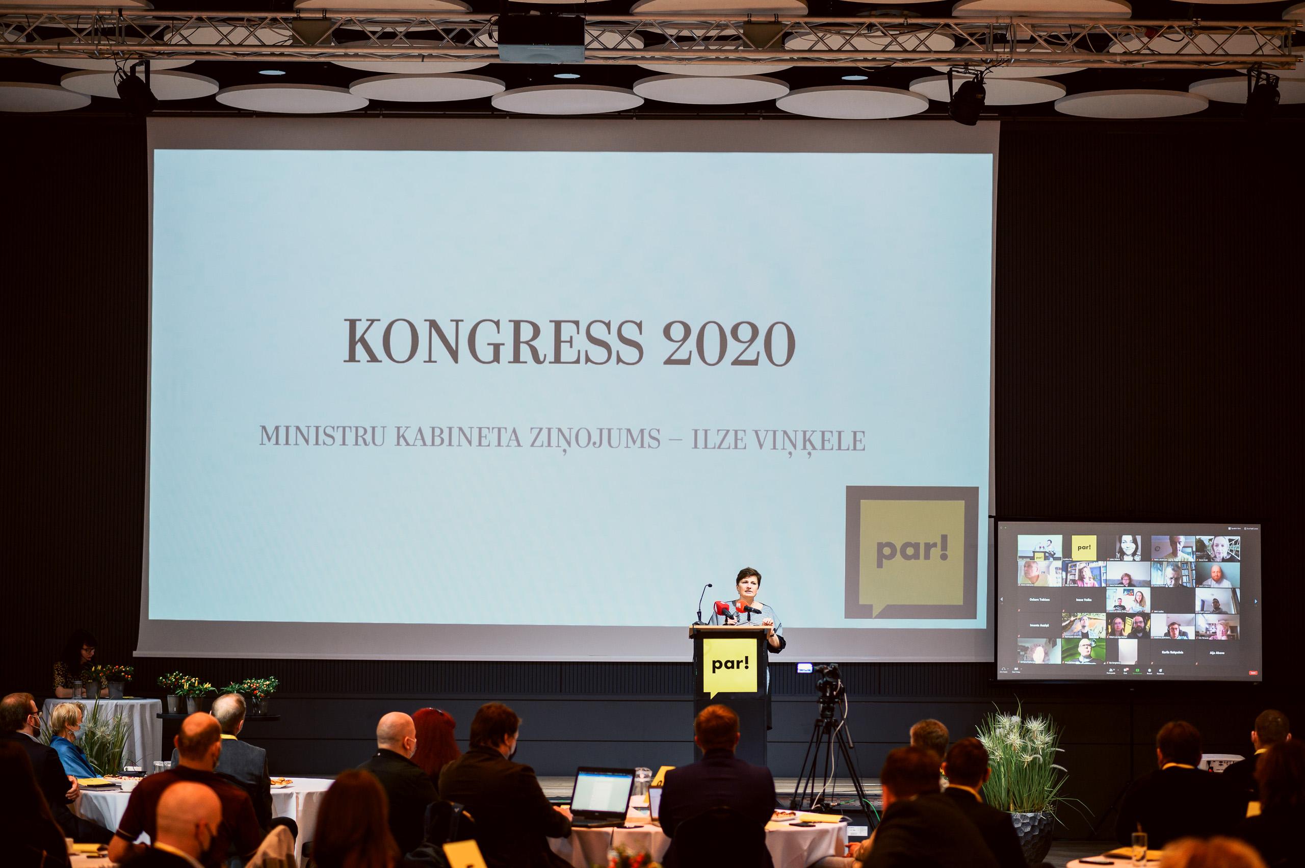 """Kustība """"Par!"""" kongresā prezentē redzējumu par modernu, atvērtu un zaļu Dzīvesvietu katram cilvēkam"""