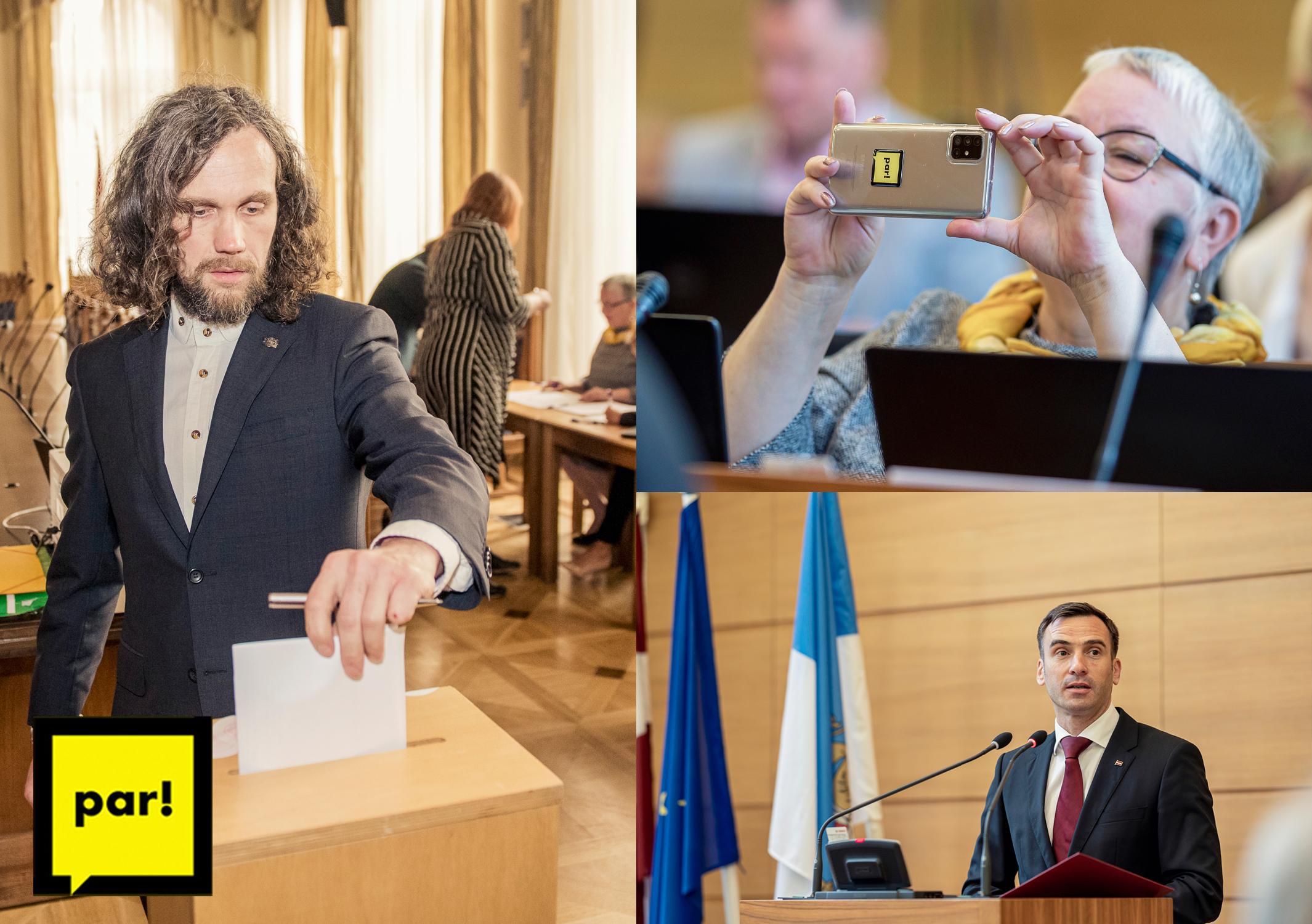 Mārtiņš Staķis, Ivars Drulle un Laima Geikina Rīgas domē
