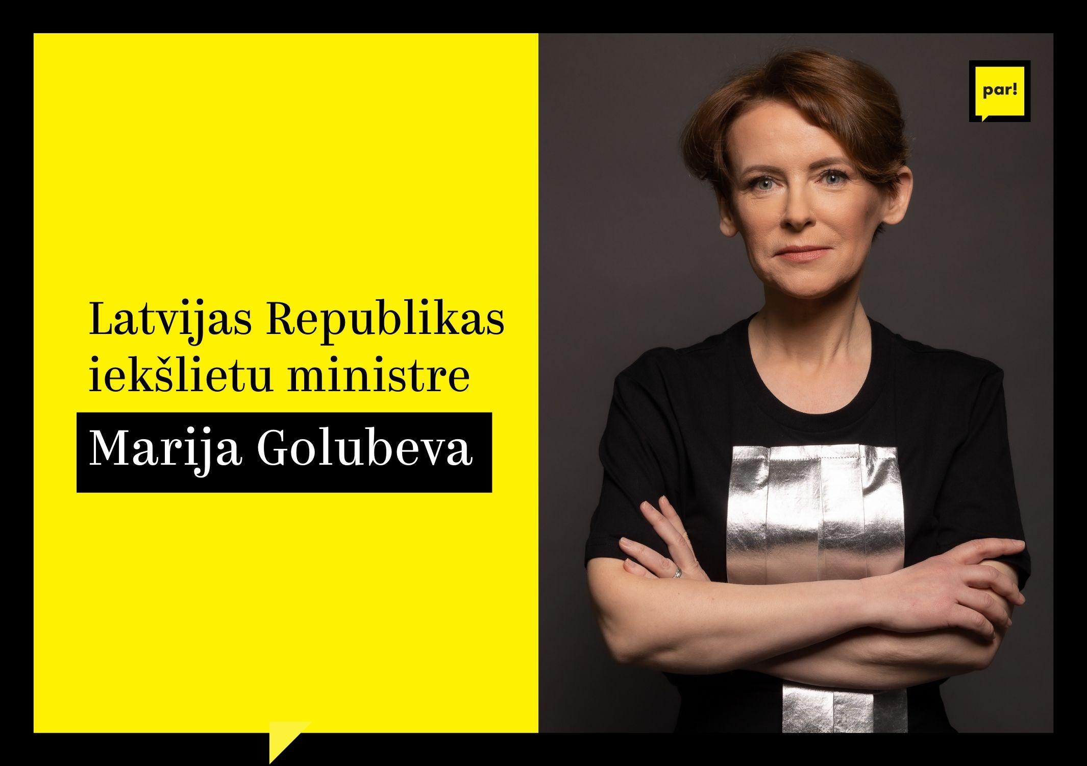 Marija Golubeva: galvenie uzdevumi Iekšlietu ministrijā
